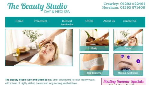Website design for the Beauty Studio in Sussex