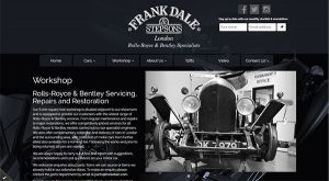 Frank Dale London by East Sussex Website Design