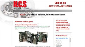 Hove Car Spares by East Sussex Website Design