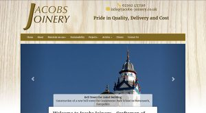 Jacobs Joinery by East Sussex Website Design