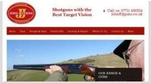 John Jeffries Custom Shotguns by East Sussex Website Design