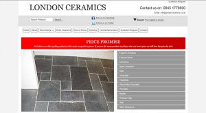 London Ceramics by East Sussex Website Design