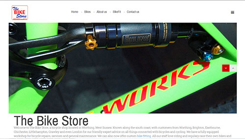 Website Design for The Bike Store in Worthing, West Sussex