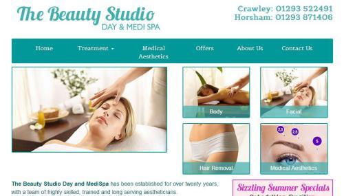 Website design for the Beauty Studio in Sussex