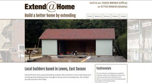 Extend at Home by East Sussex Website Design